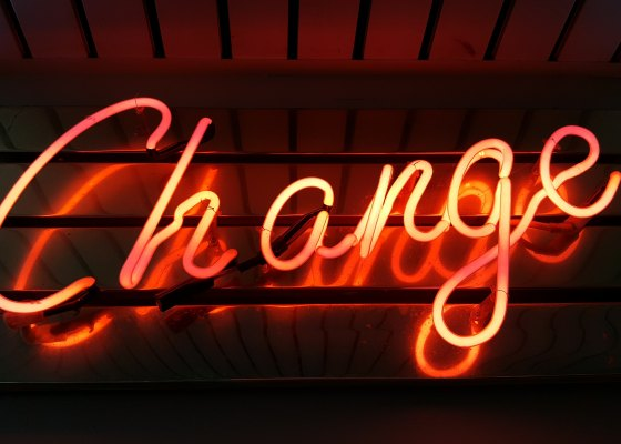 "Sign that says ""Change"""