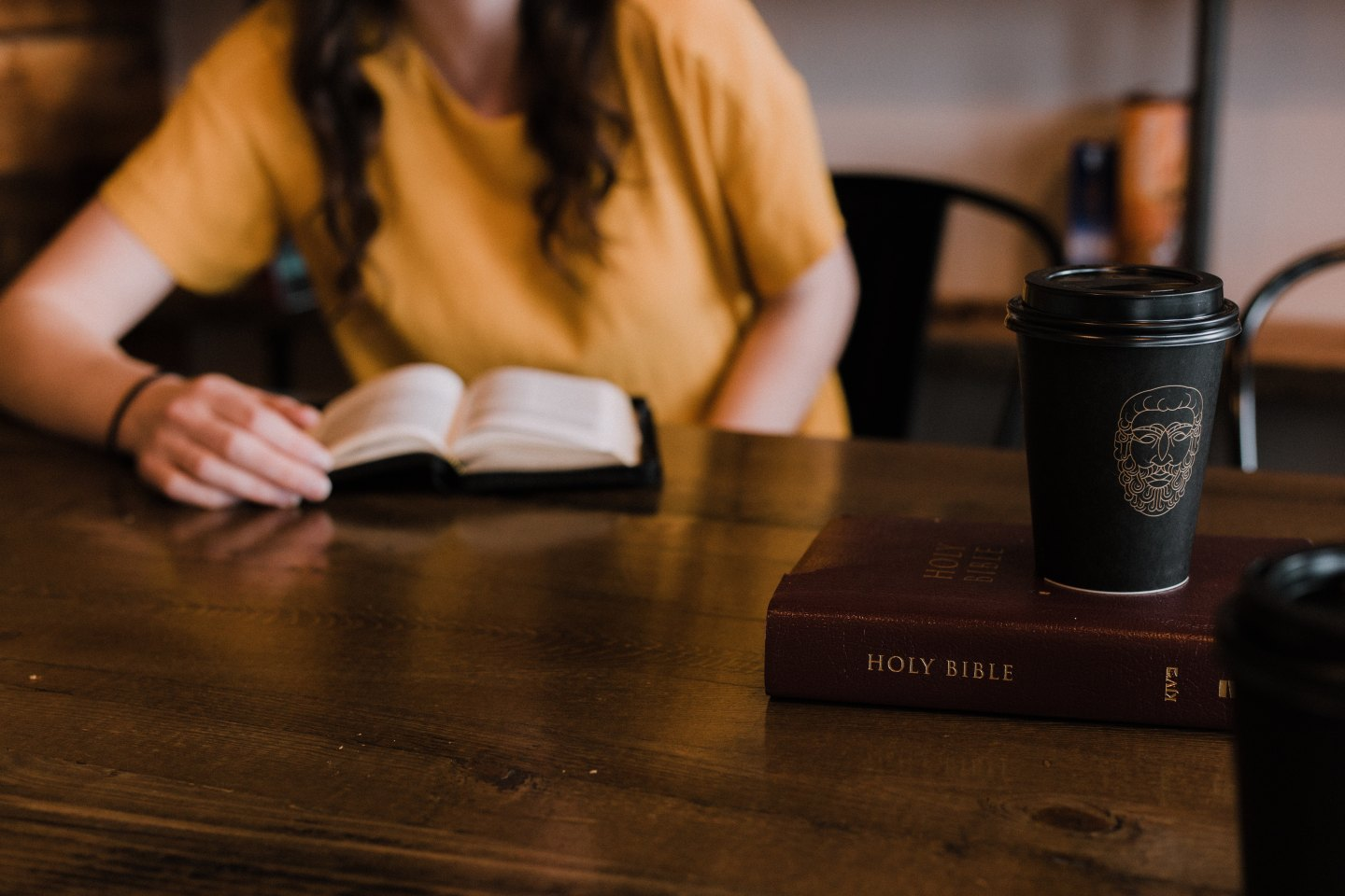 Woman studying the Bible