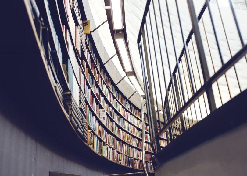 Library bookshelves