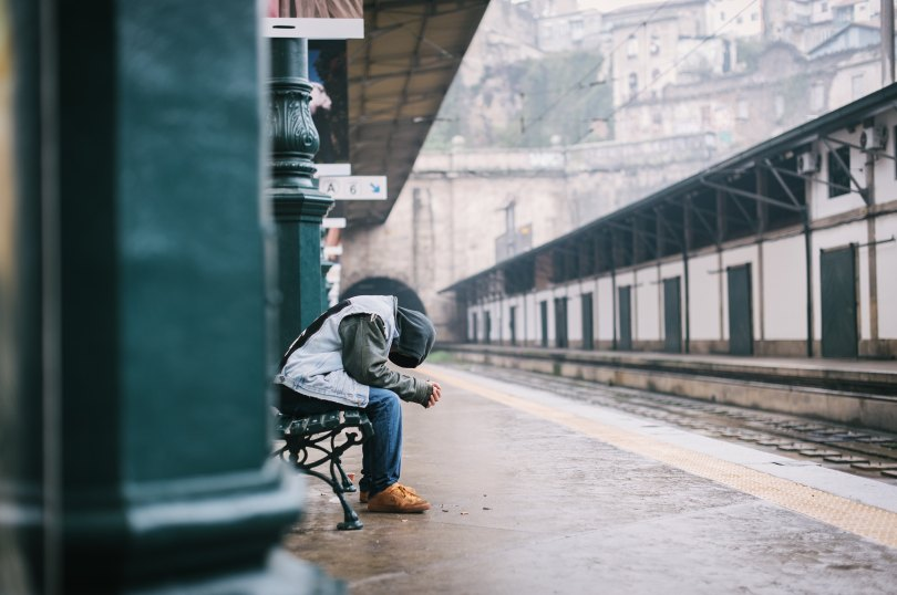Man waiting for the train